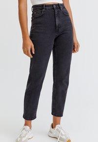 PULL&BEAR - Slim fit jeans - mottled black - 0