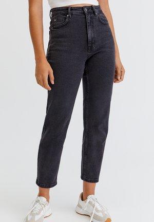 Jeansy Slim Fit - mottled black