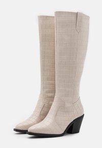 Glamorous Wide Fit - Vysoká obuv - bone - 2