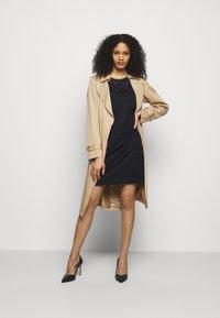 Lauren Ralph Lauren - FLORAL STRIPED DRESS - Shift dress - lighthouse navy - 1