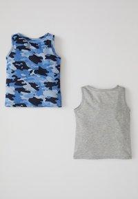 DeFacto - Top - grey / blue - 1