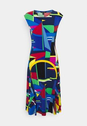 STRETCH - Jersey dress - blue/multi