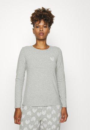 HEARTS - Pyjama top - warm grey melee