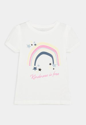 NKFBEINA - Camiseta estampada - snow white