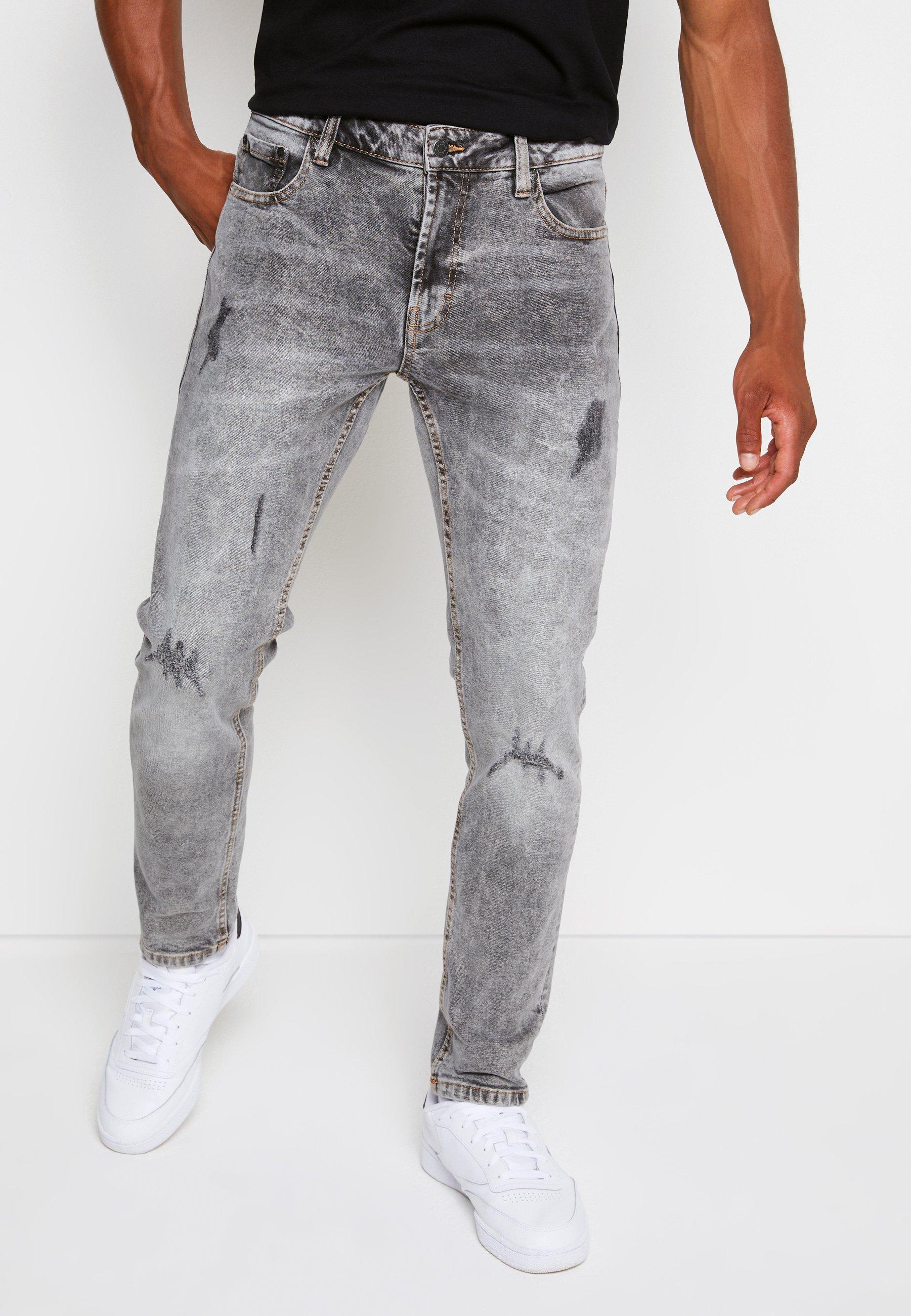 Uomo MR RED LIGHT DESTROY - Jeans slim fit
