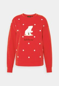 Dorothy Perkins - CHRISTMAS POLAR BEAR SWEATSHIRT - Sweatshirt - red - 0
