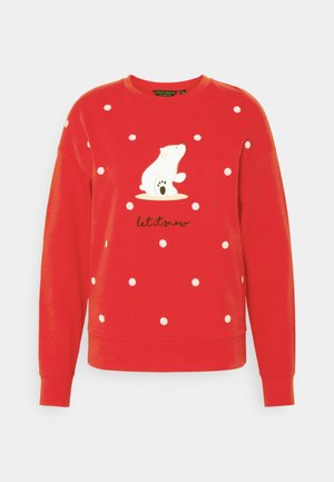 CHRISTMAS POLAR BEAR SWEATSHIRT - Sweatshirt - red