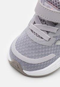 adidas Performance - DURAMO SL SHOES - Sports shoes - glory grey/silver metallic/light flash orange - 5