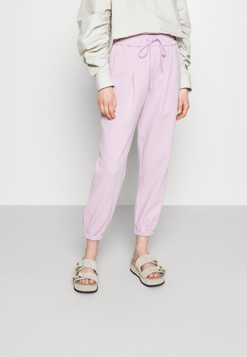 3.1 Phillip Lim - DRAWSTRING WITH FRONT PLEAT - Tracksuit bottoms - lavender