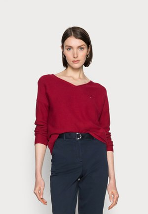 TEXTURE  SWEATER - Jumper - red