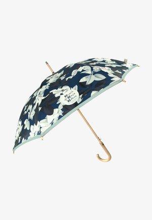 STICK UMBRELLA WITH LEAVES - Umbrella - blu