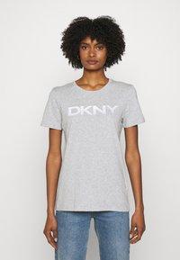 DKNY - FOUNDATION LOGO TEE - Print T-shirt - heather grey - 0