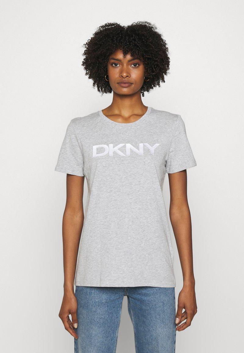 DKNY - FOUNDATION LOGO TEE - Print T-shirt - heather grey