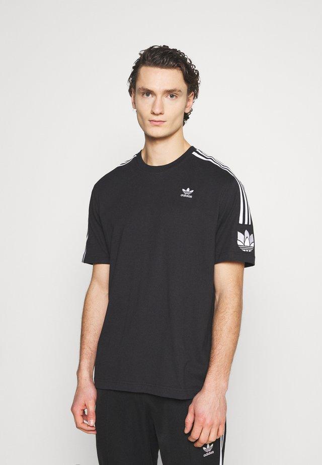 UNISEX - Print T-shirt - black/white