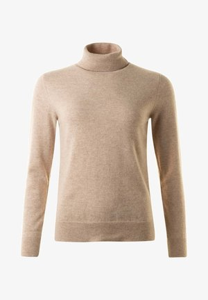 JOHN - Stickad tröja - camelmel