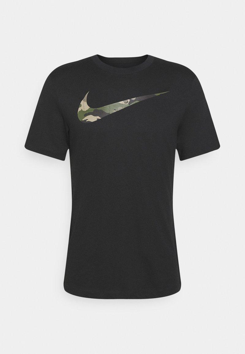 Nike Performance - TEE CAMO FILL - Printtipaita - black