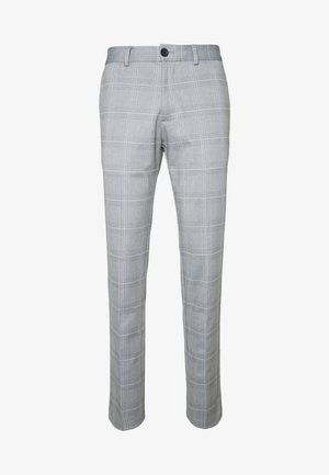 JJIMARCO JJPHIL NOR CHECK - Pantalon classique - light gray