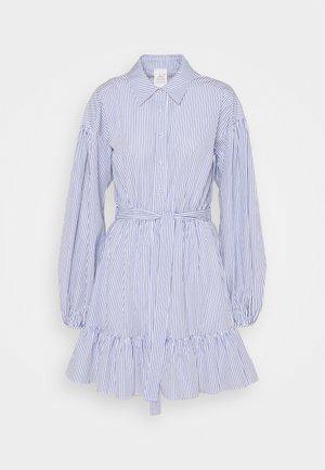 KELLY DRESS - Skjortekjole - deep ultramarine/white