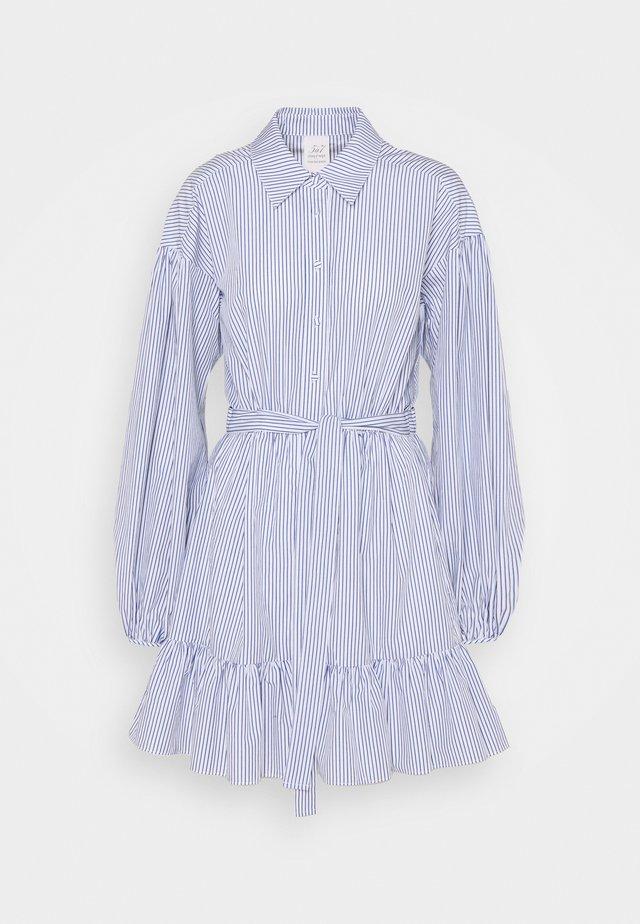 KELLY DRESS - Shirt dress - deep ultramarine/white