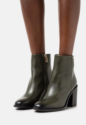 FLAG STUD BOOT - Ankle boots - army green