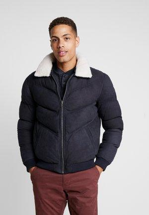 POLAR - Leather jacket - navy