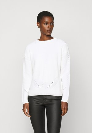 PCKARIE O-NECK  - Sweter - cloud dancer