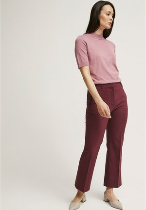 DESI CROPPED FLARE - Trousers - wine red