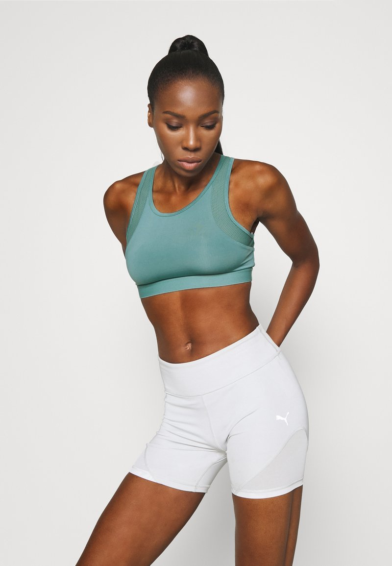 Even&Odd active - Medium support sports bra - light blue