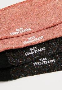 Becksöndergaard - DINA SOLID GLITTER  2 PACK - Socks - redlove/multicolor - 2