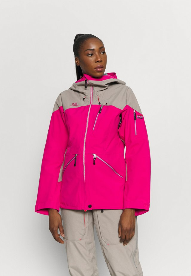 WOMENS BACKSIDE JACKET - Veste de ski - pink