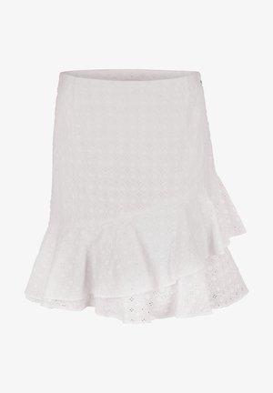 FANNIE - Pleated skirt - weiß