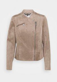 Esprit - BIKER - Faux leather jacket - taupe - 0