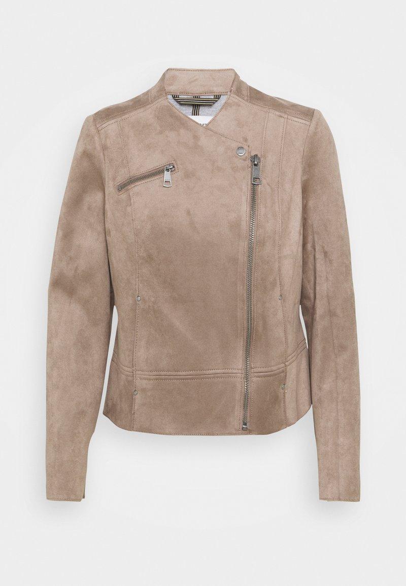 Esprit - BIKER - Faux leather jacket - taupe