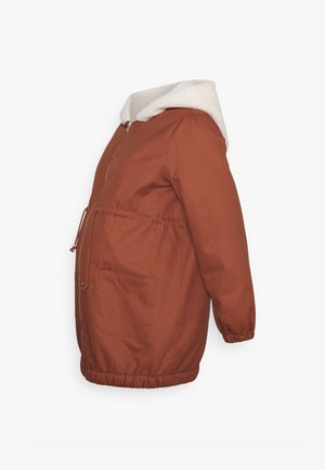SOFIA JACKET - Mantel - friar brown/beige