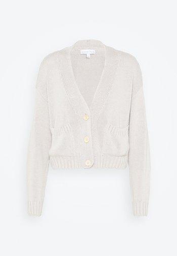 CROPPED CHUNKY CARDIGAN - Cardigan - beige