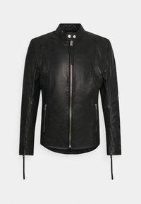 Tigha - BENNET - Kožená bunda - black - 0