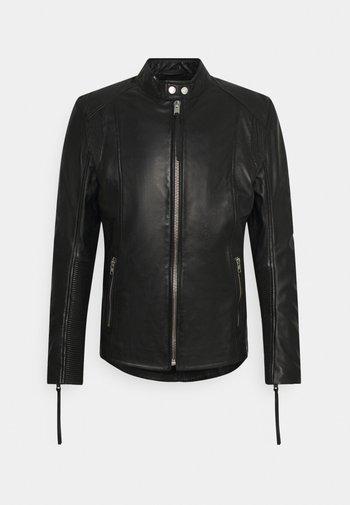 BENNET - Kožená bunda - black