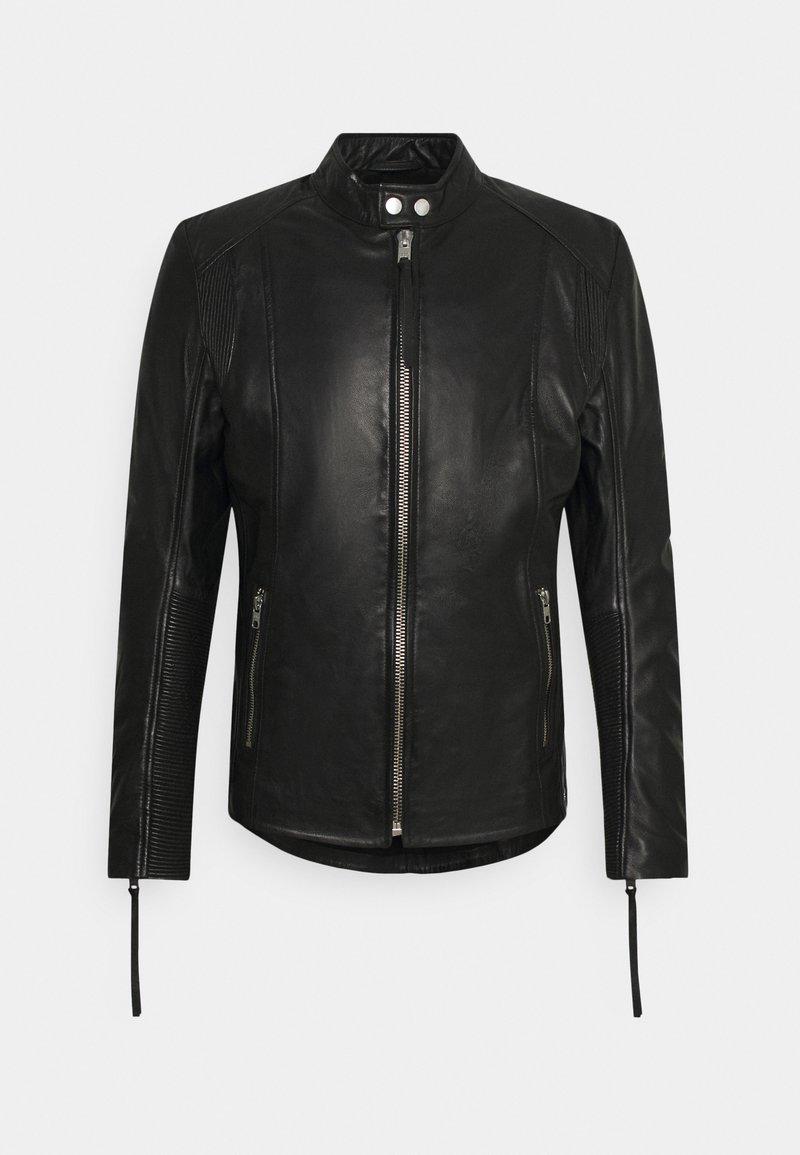 Tigha - BENNET - Kožená bunda - black