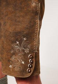 Stockerpoint - CORBI - Kožené kalhoty - havanna - 5