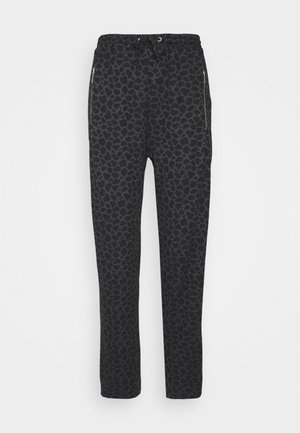 MIXED ANIMAL - Tracksuit bottoms - black