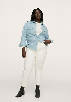 JULIE - Button-down blouse - azul medio