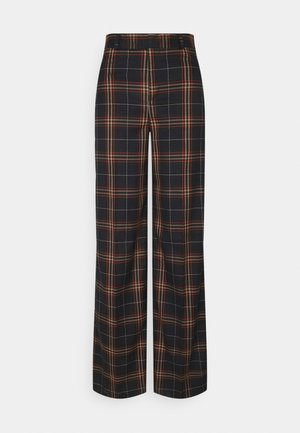 WIDE LEG - Trousers - navy