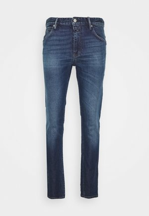 DROP CROPPED - Jeans slim fit - dark blue