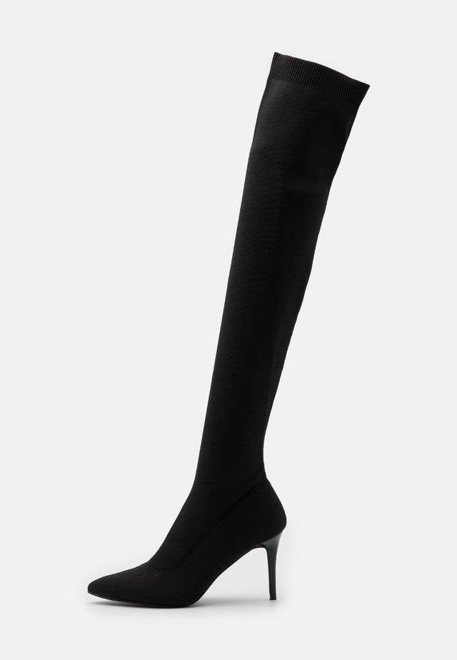 THIGH HIGH BOOT - Botas de tacón - black