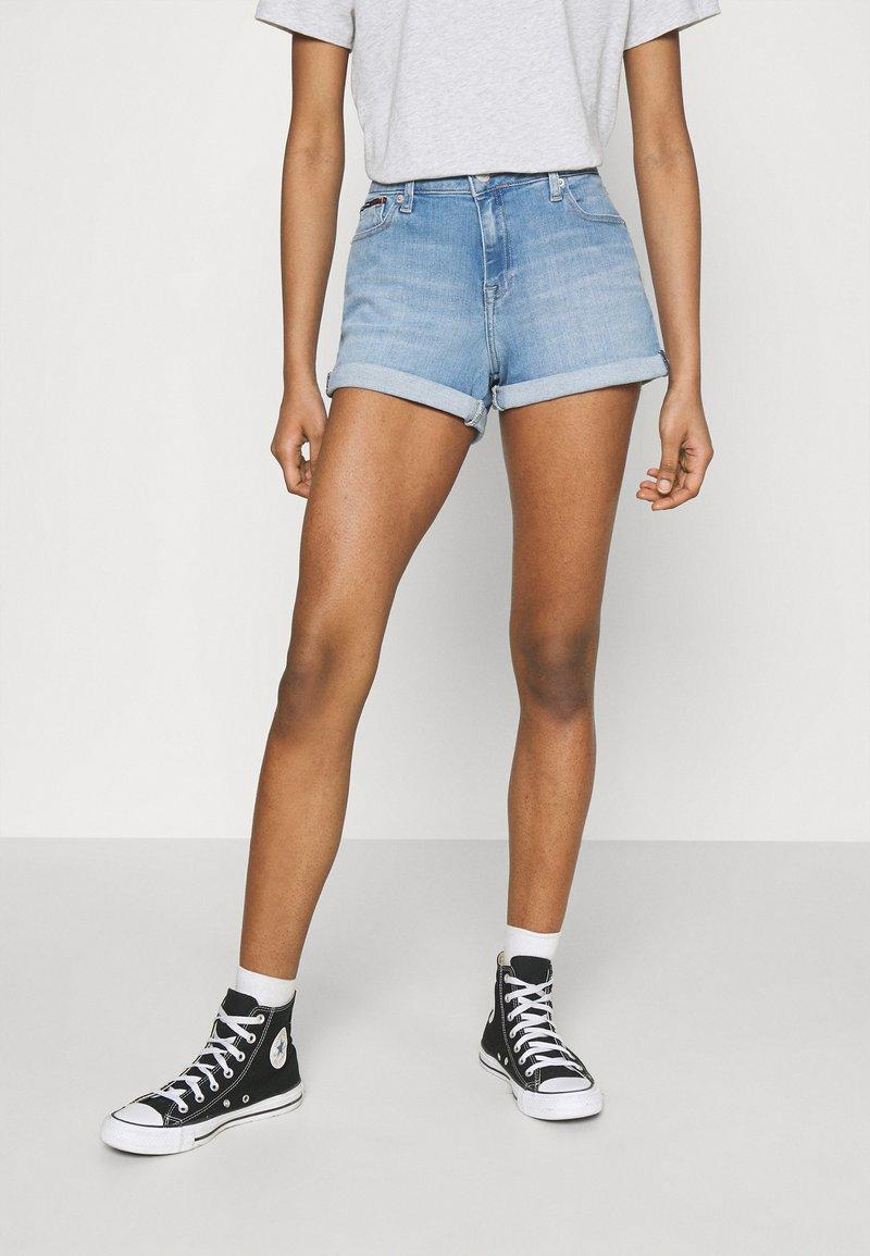 Tommy Jeans - Denim shorts - light-blue denim