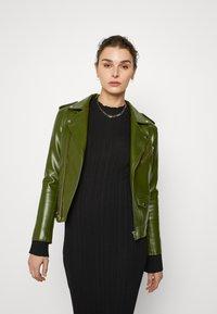 Deadwood - RIVER VEGAN CACTUS LEATHER JACKET - Faux leather jacket - green - 0