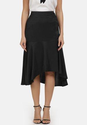 VOLANTROCK - Áčková sukně - black
