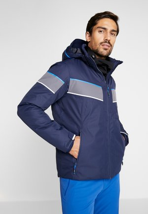 MAN JACKET ZIP HOOD - Ski jas - black blue