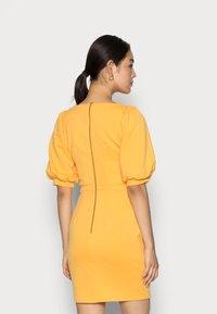Closet - CLOSET V NECK PENCIL DRESS - Day dress - mustard - 2