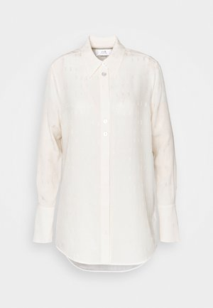 GRANDAD WITH BUTTONS DETAIL - Button-down blouse - cream